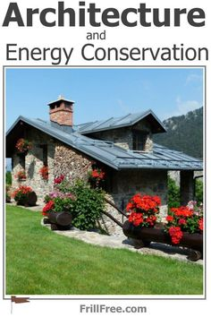 Stone cottage with standing seam metal roof Wool Insulation, Types Of Insulation, Build Your Own House, Energy Conservation, Energy Efficient Homes, Sound Proofing, Metal Roof, Home Hacks, Nice View