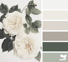 A GORGEOUS image and color palette from design-seeds.com - these colors can be used in so many ways - a vintage floral pattern for a romantic room, or sleek clean furniture with solid fabrics for a serene space.