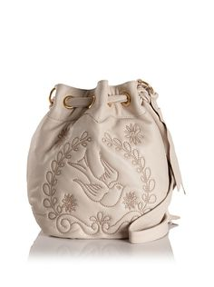 I need to replace my dying Isabella Fiore bag.  I'm sure white's not the answer, but this is so fabulous!