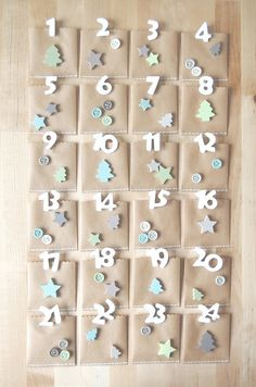 About the nice things: Advent Calendar Homemade Advent Calendars, Advent Calendars For Kids, Kids Calendar, Christmas Calendar, Diy Advent Calendar, Christmas Countdown, Christmas Love, Christmas Holidays, Christmas Crafts