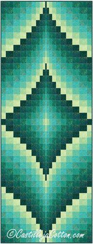 Fire Within Peacock Quilt Pattern Fabric: www.northcott.com Artisan Spirit Simmer Peacock