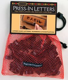 Press-In Letters for wet concrete projects - 42 plastic-molded stamps - typeface: Classic - $12.95 · garden labels · walkway stones · building est. date · pet cemetery markers