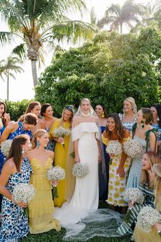 For a stress-free wedding day, you won't want to show up unprepared– shop all of the maid of honor and bridesmaids essentials, here. Wedding Weekend, Summer Wedding, Wedding Morning, Free Wedding, Our Wedding, Green Bridesmaid Dresses, Wedding Dresses, Hot Pink Bridesmaids, Patterned Bridesmaid Dresses