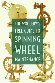 Our free guide to spinning wheel maintenance is a useful reference to keep handy…