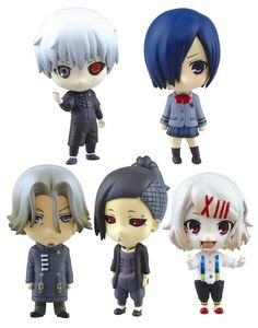 Touka Kirishima is from the anime and manga series, Tokyo Ghoul where she serves as a part-time waiter for Anteiku while posing as a normal teenage student in the daytime.  Add to your Tokyo Ghoul collectible this Touka ball chain and mini figurine which is one of five of Aoshima's SD Figure Swing set that features other characters such as Ken Kaneki, Renji Yomo, Uta and Juuzou Suzuya. Collect them all!