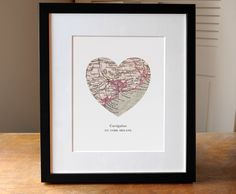 Cork Heart Map Print, Ireland, Cork Map Art, Ireland Map, Heart Map Print, Ireland Art, Cork Map, Custom Art, Custom Print. This beautiful antique Cork Ireland heart map print can be made to feature any location worldwide. The perfect gift for a travel lover. Each print is carefully packaged in a protective sleeve with back board, and will ship flat in a sturdy card mailer. Oversize prints will be rolled in a tube. Printed on premium archival quality thick paper stock with a slight...
