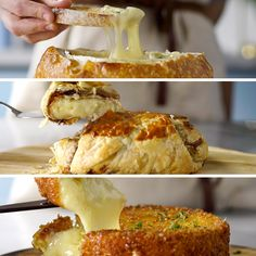 Recipe with video instructions: Wrapped in pastry or deep fried? There are so many ways to cook and eat your favourite brie! Brie Cheese Recipes, Appetizer Recipes, Appetizers, I Love Food, Good Food, Yummy Food, Food Videos, Cooking Videos, Food To Make