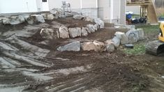 Final grading with the terraces beds ready for planting