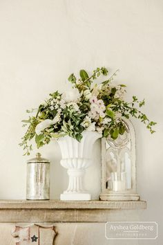 White wedding flowers with lots of foliage at bultey priory wedding venue in suffolk White Wedding Flowers, Love Story, Wedding Venues, Glass Vase, Wedding Photography, Romantic, Creative, Green, Pink