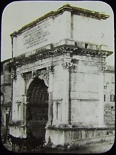 Glass Magic Lantern Slide THE ARCH OF TITUS C1890 ROME PHOTO ROMA PHOTO