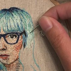 Got some of the hair done tonight. I can always do self-portraits at different hair colors of my life if I want to practice ombres. ☺️ I'm enjoying this one so much I might stick to portraits for a few projects. Modern Embroidery, Hand Embroidery Patterns, Embroidery Thread, Cross Stitch Embroidery, Thread Art, Thread Painting, Needlepoint Stitches, Needlework, Portrait Embroidery