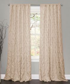 Take a look at this Taupe Lake Como Window Curtain by Lush Décor on #zulily today! #curtains