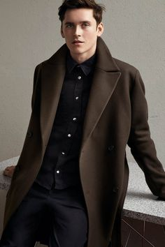 Made for the fashion-forward man. H&M Studio AW16 is a high-end collection created for an urban life. Featuring softly tailored jackets and grand overcoats, the look is tonal and muted placing emphasis on silhouette and textures. | H&M Studio