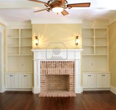 brick fireplaces   good example of exposed natural brick with a wood mantle.