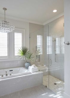 Different factors must be taken into account when doing a master bathroom remodel than when remodeling any other bathroom. There are two main reasons for this. First, a master bathroom is usually designed so that two people can use it… Continue Reading → Dream Bathrooms, Beautiful Bathrooms, Light Grey Bathrooms, Luxury Bathrooms, Master Bathrooms, Bathroom Design Luxury, Modern Bathroom, Colorful Bathroom, Minimalist Bathroom