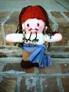 knit rag doll-- This is a GREAT pattern to learn to knit dolls Knitting Kni...