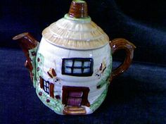 Shabby Chic Cottage Tea Pot by fiordalis on Etsy, $18.00