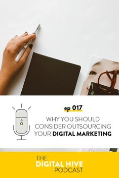 In this week's episode I'm talking you through why you should consider outsourcing your digital marketing, plus some things to look out for when you do look into hiring someone.