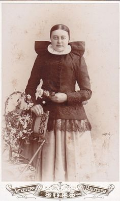 CDV photo Sorben Tracht um 1900 Bautzen Lausitz | eBay