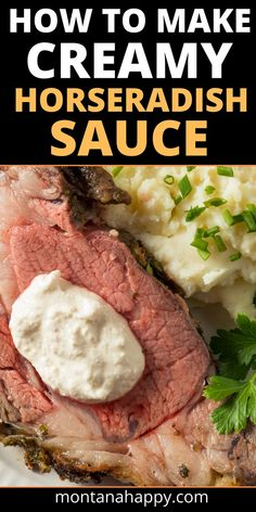 Are you looking for that perfect creamy horseradish sauce for prime rib? You've found it. Sour cream, mayonnaise, lemon juice, Worcestshire sauce, horseradish, Kosher salt, and pepper mixed together makes this recipe the best one you'll find! Easy to make and use the extra horseradish cream sauce for a sandwich spread or to add flavor to your mashed potatoes Frozen Drink Recipes, Easy Drink Recipes, Fall Dinner Recipes, Delicious Dinner Recipes, Pork Recipes, Appetizer Recipes, Chicken Recipes, Sauce Recipes, Family Recipes