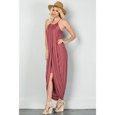"""Goddess"" Maxi Dress Gorgeous and elegant spaghetti string maxi dress with layered skirt underneath. Soft and smooth fabric. You will love how beautiful you look in this dress! Available in Marsala color 95% Rayon, 5% Spandex Made in U.S.A Click on your size below to purchase! Thank you! WILDDREAMS Dresses Maxi"