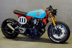 @caferacergram  by CAFE RACER #caferacergram # | 'MCQUEEN 111' Gulf Tribute…