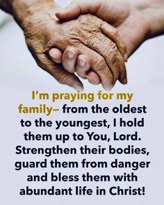 Prayer for Family Prayer Scriptures, Bible Prayers, Faith Prayer, God Prayer, Prayer Quotes, Faith In God, Short Prayers, Bible Teachings, Catholic Prayers