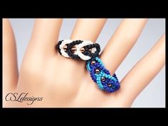 Intertwining micro macrame ring - YouTube