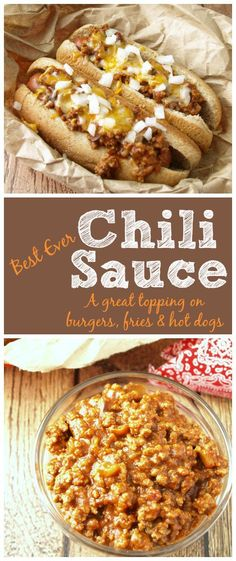 FIRE UP THE GRILL! The chili sauce the hot dog vendors make is always so delicious but you just can't get that same flavor from a can. Now you can make it at home and enjoy chili dogs all year!