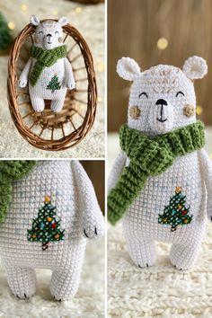 Diy Crochet Toys, Crochet For Kids, Crochet Baby, Crochet Projects, Crochet Bear Patterns, Crochet Animals, Amigurumi Patterns, Baby Kind, Stuffed Animal Patterns