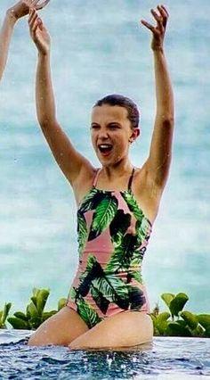 Image result for sadie sink bikini  Stranger Things