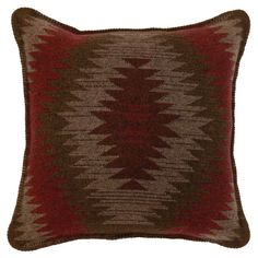 Wooded River Yellowstone II Geometric Indoor Pillow - WD1338