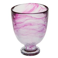 Abigails Clear Stone Age Red Wine Glass, Hot Pink >>> Find out more details by clicking the image : Wine Accessories
