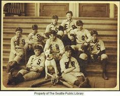 Ballard baseball team ca. 1910. Take a peek into our Special Collections tour about the People and Cultures of Seattle on May 12 at 10:30 am #seattlepubliclibrary #seattle #baseball #ballard #specialcollections #registrationrequired
