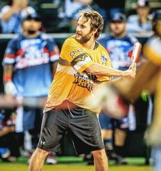 Taylor Kitsch - taking in the homerun derby at the Lone Survivor Foundation softball game. Courtesy of Jennie Finch