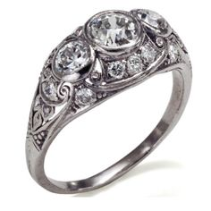 Love the vintage rings... Must make boyfriend an account