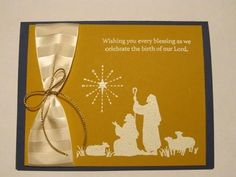 All Ye Faithful Embossed Christmas Card - Happy Christian Christmas Cards, Christmas Cards To Make, Blessing, Card Making, Faith, Happy, Ser Feliz, Handmade Cards, Loyalty