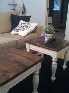 Pine Coffee Table Makeover | Design A.D.D. Pine Tables Made Into Coffee  Tables