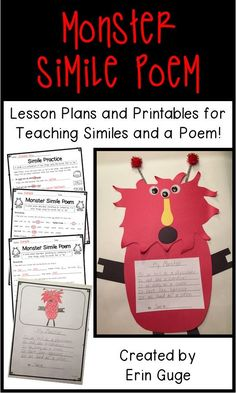 Simile Poem Lesson Plans And Printables For Teaching Similes And