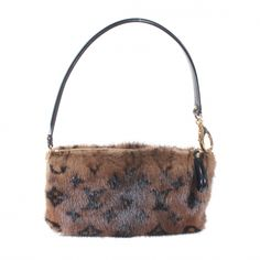 This is an authentic LOUIS VUITTON Monogram Mink Vision Milla MM in Brown.   This petite handbag is inspired by and named after the actress  model Milla Jovovich.