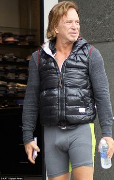 2014 Mickey Rourke | We see you: Mickey Rourke chose a rather intriguing gym ensemble on ...