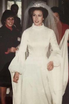 Princess Anne on her wedding day, November 14, 1973.