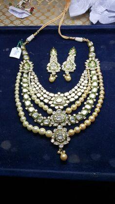 Polki string Jadau diamond polki jewellery
