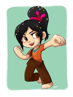 Vanellope as Ralph. - Wreck-It Ralph | 13 Disney Heroines Swap Clothes With Their Heroes | THIS IS SO COOL!!!!