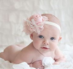 Sweet Pink Rose Headband for Newborn,Infant,Toddler Girls and For All Ages | Rudelyn's Sari Sari Store