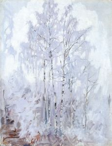 Frosty Birch Trees  Akseli Gallen-Kallela - 1894