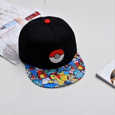 7529a7a5e63 Japanese Famous Animation Cartoon Comic Cute Lovely Pokemon GO Pocket  Monster Pikachu Flat Snapback Caps Hat for Adult Men Women