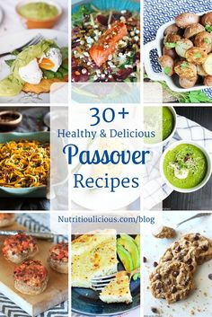 Over 30 healthy and delicious Kosher for Passover recipes that take the holiday from traditional to gourmet! @jlevinsonrd