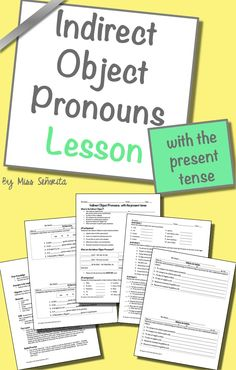 direct and indirect object pronouns spanish worksheet pdf