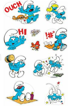 The Smurfs stickers
